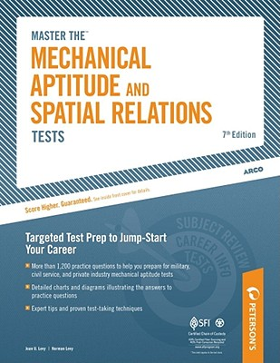 Master the Mechanical Aptitude and Spatial Relations Tests By Peterson's (COR)